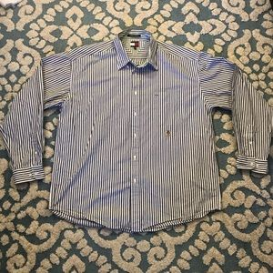 Mens Tommy Hilfiger Striped Button Down Vintage